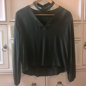 Olive Shirt With Neck Piece